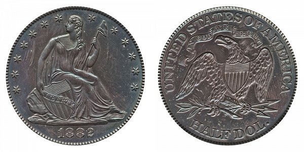 1882 Seated Liberty Half Dollar
