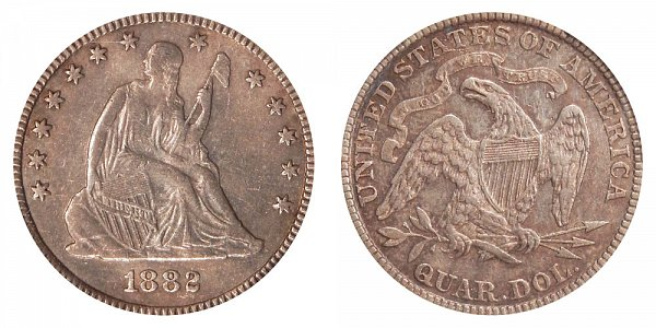 1882 Seated Liberty Quarter