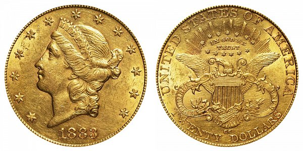 1883 CC Liberty Head $20 Gold Double Eagle - Twenty Dollars