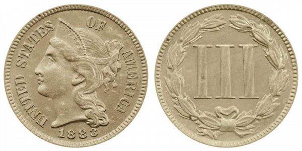1883 Nickel Three Cent Piece