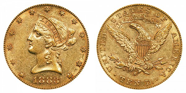 1883 S Liberty Head $10 Gold Eagle - Ten Dollars