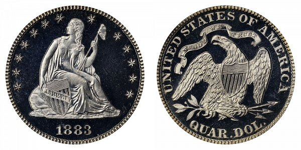 1883 Seated Liberty Quarter
