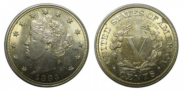1883 With Cents Liberty Head V Nickel