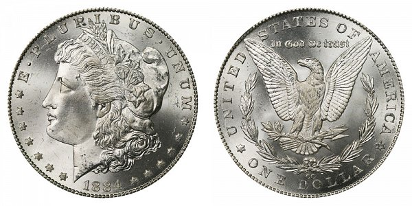 1884 CC Morgan Silver Dollar