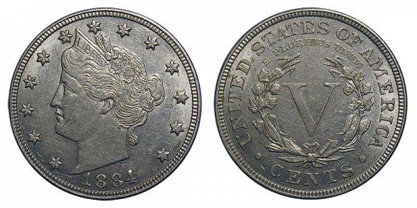 1884 Liberty Head V Nickel