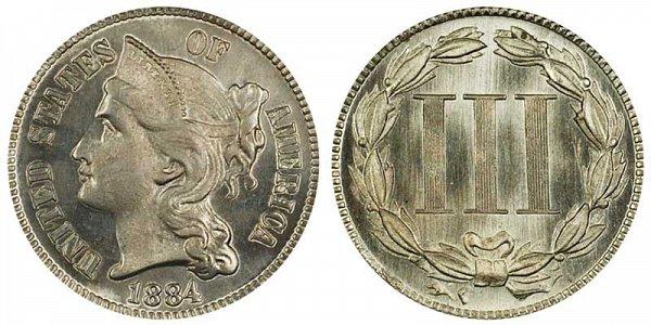 1884 Nickel Three Cent Piece