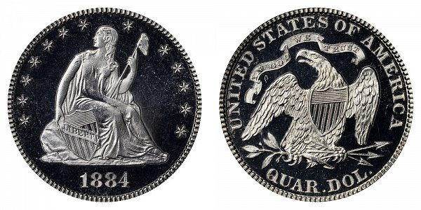 1884 Seated Liberty Quarter