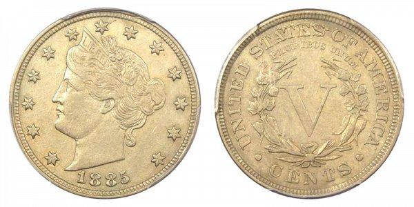 1885 Liberty Head V Nickel