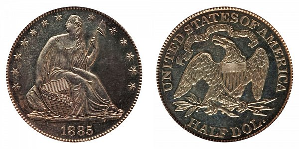 1885 Seated Liberty Half Dollar