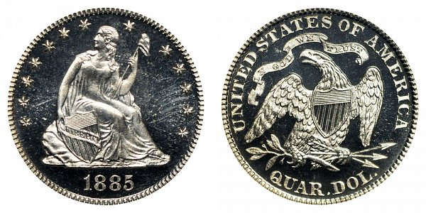 1885 Seated Liberty Quarter