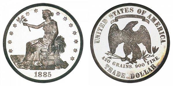 1885 Trade Silver Dollar Proof
