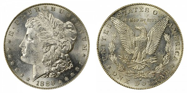 1886 S Morgan Silver Dollar