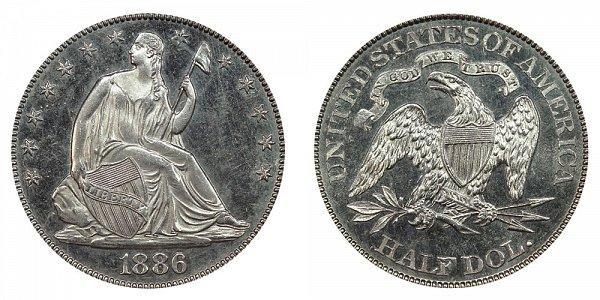 1886 Seated Liberty Half Dollar