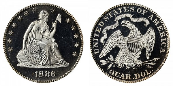 1886 Seated Liberty Quarter