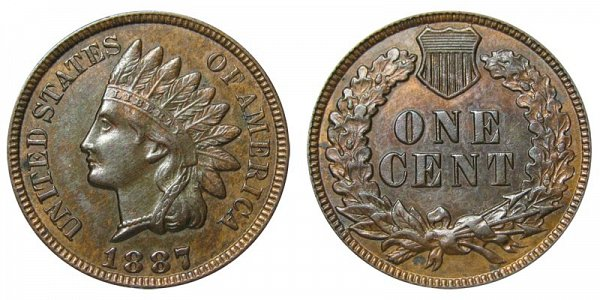 1887 Indian Head Cent Penny
