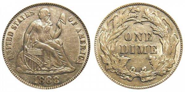 1888 Seated Liberty Dime