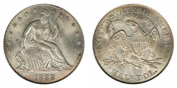 1888 Seated Liberty Half Dollar
