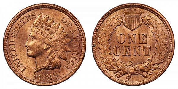 1889 Indian Head Cent Penny
