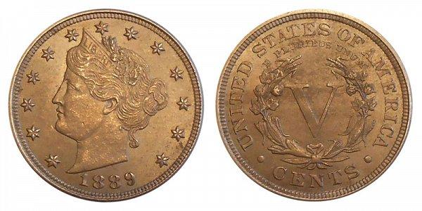 1889 Liberty Head V Nickel