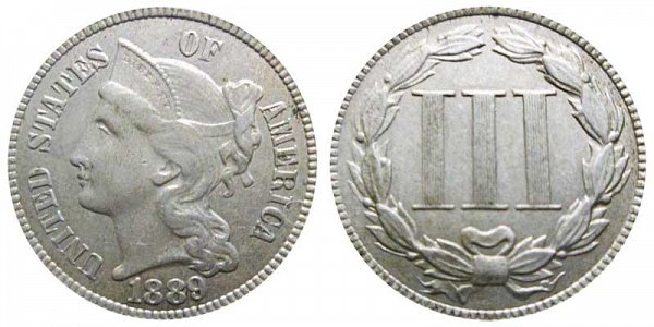1889 Nickel Three Cent Piece