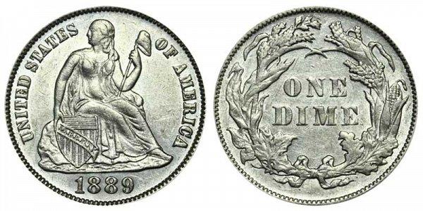 1889 Seated Liberty Dime