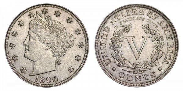 1890 Liberty Head V Nickel