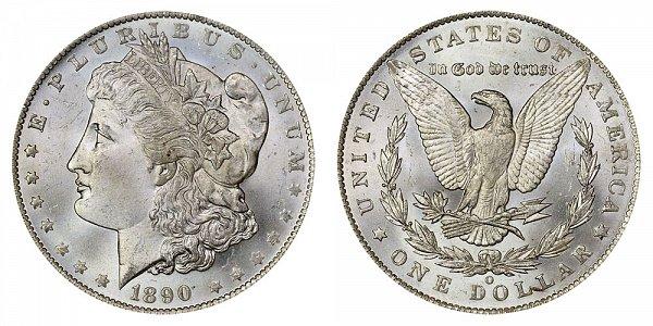 1890 O Morgan Silver Dollar
