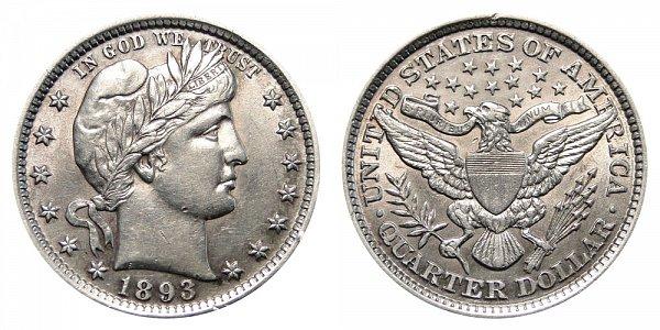 1893 Barber Quarter