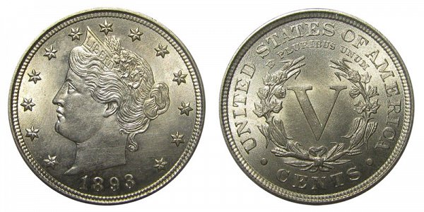 1893 Liberty Head V Nickel
