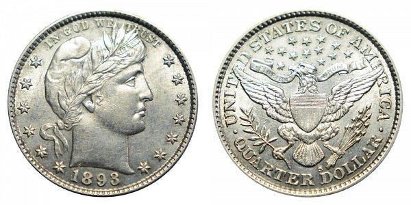 1893 S Barber Quarter