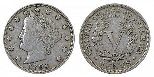 1894 Liberty Head V Nickel
