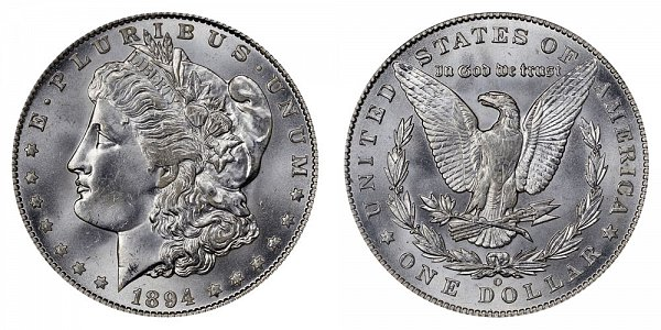 1894 O Morgan Silver Dollar