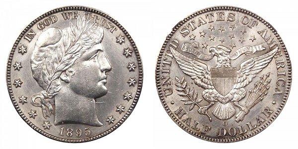 1895 O Barber Silver Half Dollar