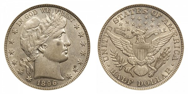 1896 Barber Silver Half Dollar