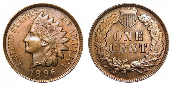 1896 Indian Head Cent Penny