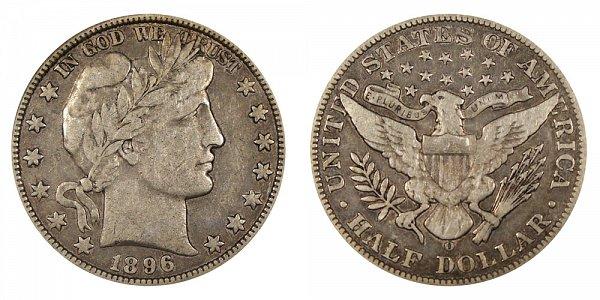 1896 O Barber Silver Half Dollar