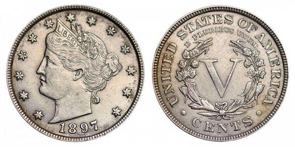 1897 Liberty Head V Nickel