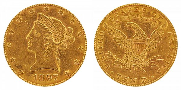 1897 S Liberty Head $10 Gold Eagle - Ten Dollars