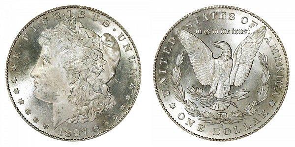 1897 S Morgan Silver Dollar