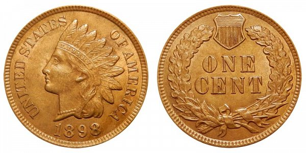 1898 Indian Head Cent Penny