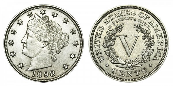 1898 Liberty Head V Nickel