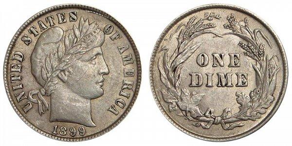 1899 Silver Barber Dime