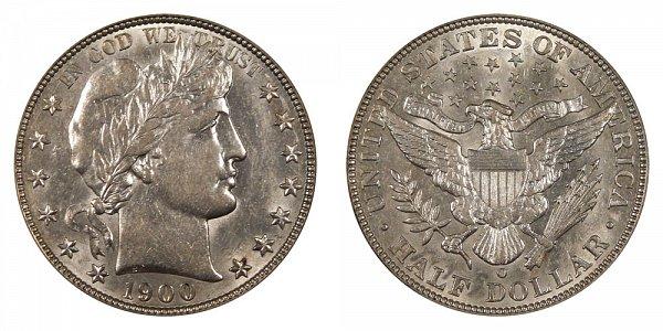 1900 O Barber Silver Half Dollar