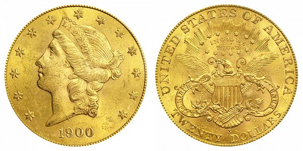 1900 S Liberty Head $20 Gold Double Eagle - Twenty Dollars