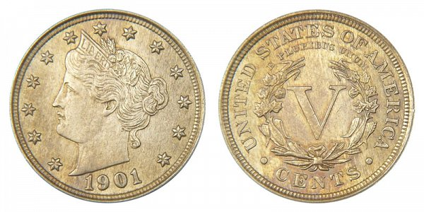 1901 Liberty Head V Nickel