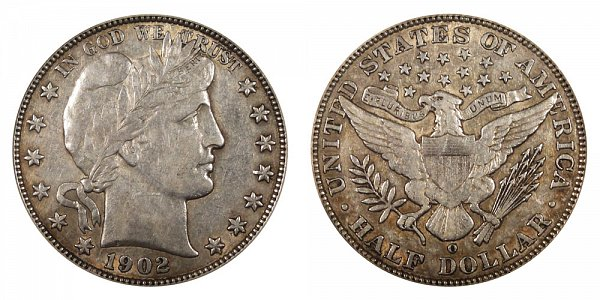 1902 O Barber Silver Half Dollar