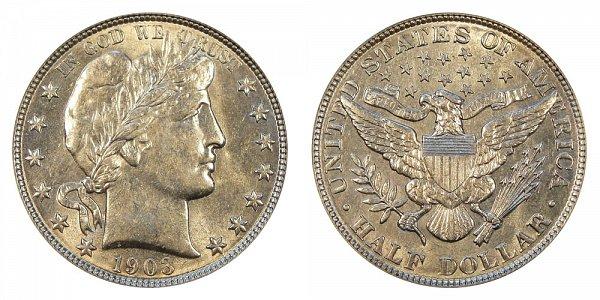 1903 Barber Silver Half Dollar
