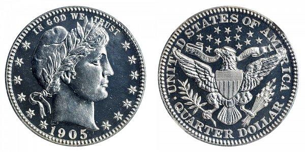 1905 Barber Quarter