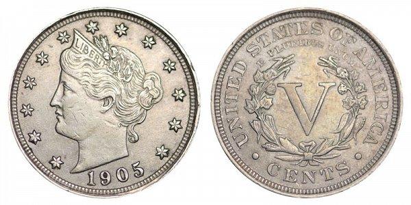 1905 Liberty Head V Nickel