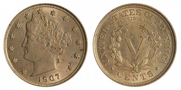 1907 Liberty Head V Nickel